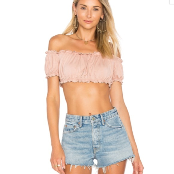 95b063144ca353 by the way Tops - Ella ruffle crop top in blush size small